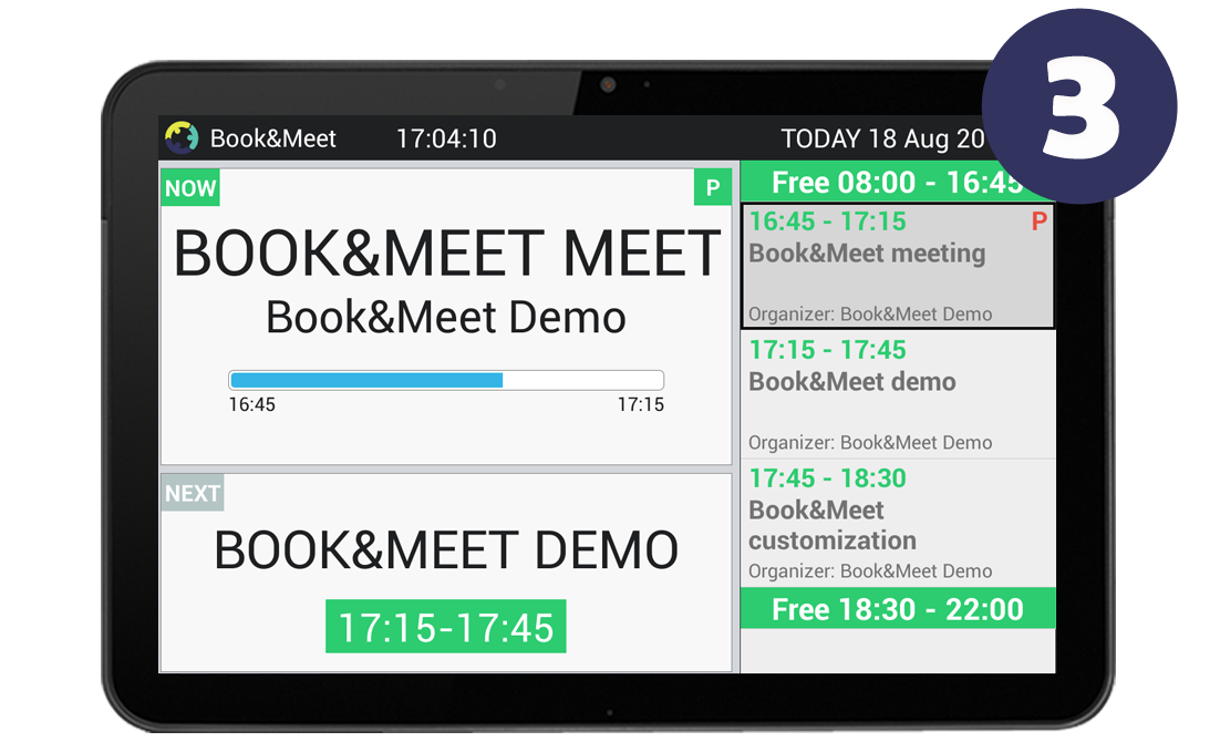 Book Meet Meeting Room Booking And Displaying Solution